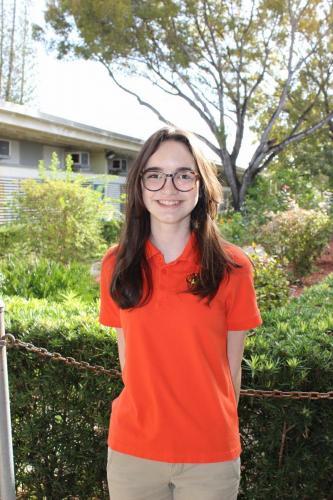 Student in orange